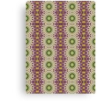 Purple, Green and Gold Abstract Design Pattern Canvas Print