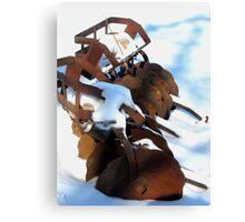 Rusted Soil Tiller Canvas Print