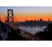 Sunset Over San Francisco Photographic Print