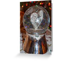 Heart Snow Globe Greeting Card
