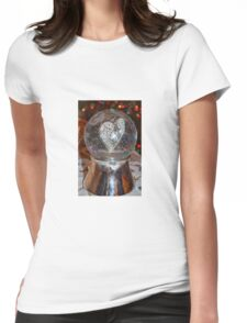 Heart Snow Globe Womens Fitted T-Shirt