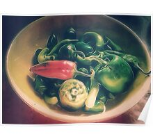 Still life with hot peppers Poster
