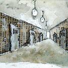 hall way punctured by Tristan Klein