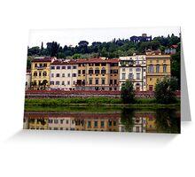Italian Fiume Arno Reflections... Greeting Card