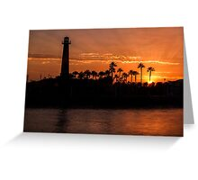 Sunset over Rainbow Harbor Greeting Card
