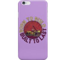 Born to Build (purple) iPhone Case/Skin