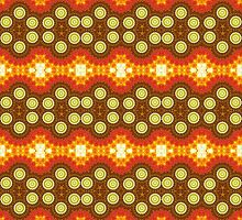 Red, Orange and Brown Abstract Design Pattern by Mercury McCutcheon