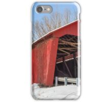 Edna Collings Covered Bridge and Snow iPhone Case/Skin