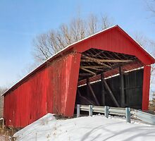 Edna Collings Covered Bridge and Snow by Kenneth Keifer