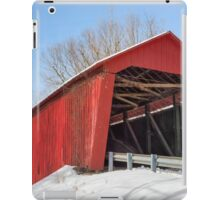 Edna Collings Covered Bridge and Snow iPad Case/Skin
