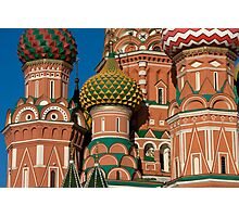 Detail of the St. Basil Cathedral on the Red Square in Moscow, Russia Photographic Print