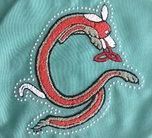 Embroidery Fox Letter G by Donna Huntriss