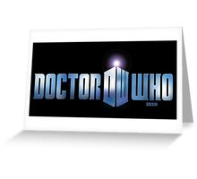 Doctor Who logo Greeting Card