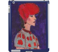 Red Hat Woman No #2 1940's iPad Case/Skin