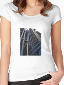 STRAIGHT LINES Women's Fitted Scoop T-Shirt