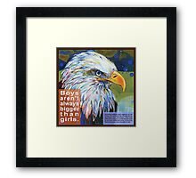 Queen of the sky (Bald eagle) Framed Print