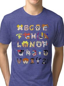 Child of the 90s Alphabet Tri-blend T-Shirt