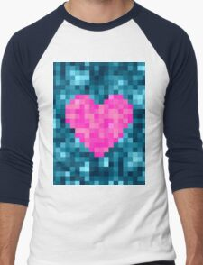 I Love Every Pixel of You Men's Baseball ¾ T-Shirt