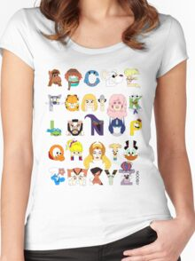 Child of the 80s Alphabet Women's Fitted Scoop T-Shirt