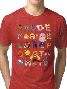 Child of the 80s Alphabet Tri-blend T-Shirt