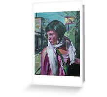 Girl With WHite Shawl Greeting Card