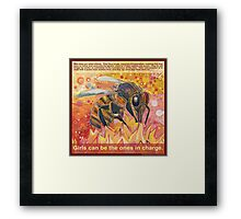 The real Amazons (Western honey bee) Framed Print