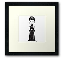 Audrey Hepburn as Holly Golightly Illustration Framed Print