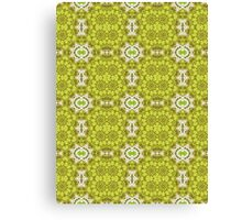 Green and White Abstract Design Pattern Canvas Print