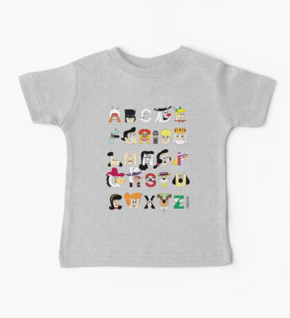 Child of the 60s Alphabet Baby Tee
