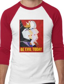 Be Evil Today Men's Baseball ¾ T-Shirt