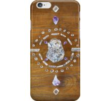 Botryoidal Lepidolite Crystal Grid iPhone Case/Skin
