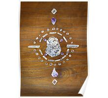 Botryoidal Lepidolite Crystal Grid Poster