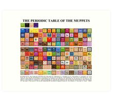 Periodic Table of the Muppets Art Print