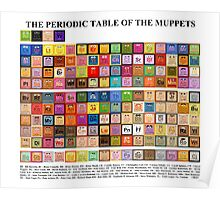 Periodic Table of the Muppets Poster