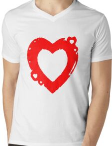 hearty Mens V-Neck T-Shirt