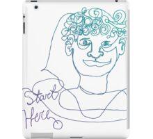 Start Here - One Line Man iPad Case/Skin