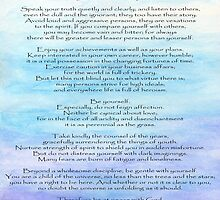 Desiderata by Roz Abellera Art Gallery