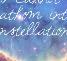 The Fault In Our Stars Galaxy Quote Sticker