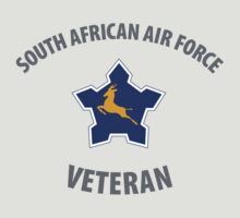 South African Air Force (SAAF) Veteran (Springbok Grey Text) by civvies4vets