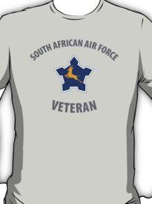 South African Air Force (SAAF) Veteran (Springbok Grey Text) T-Shirt