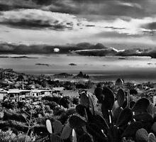 Acitrezza and Acicastello in black and white by Andrea Rapisarda