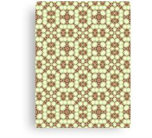 Brown, Green and White Abstract Design Canvas Print