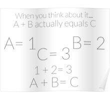 A + B = C Poster