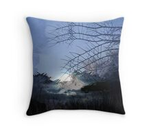 DRIVING INTO THE LIGHT Throw Pillow