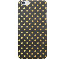 RUSTIC CONFETTI polka dot pattern gold foil effect gray chalkboard iPhone Case/Skin