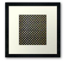 RUSTIC CONFETTI polka dot pattern gold foil effect gray chalkboard Framed Print