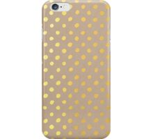 RUSTIC CONFETTI polka dot pattern gold foil effect on kraft iPhone Case/Skin
