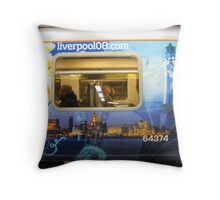 LIVERPOOL TRAIN Throw Pillow