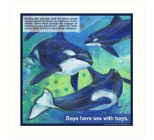 Boys' night out (Orca) Art Print