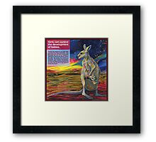 Choice (Red kangaroo) Framed Print